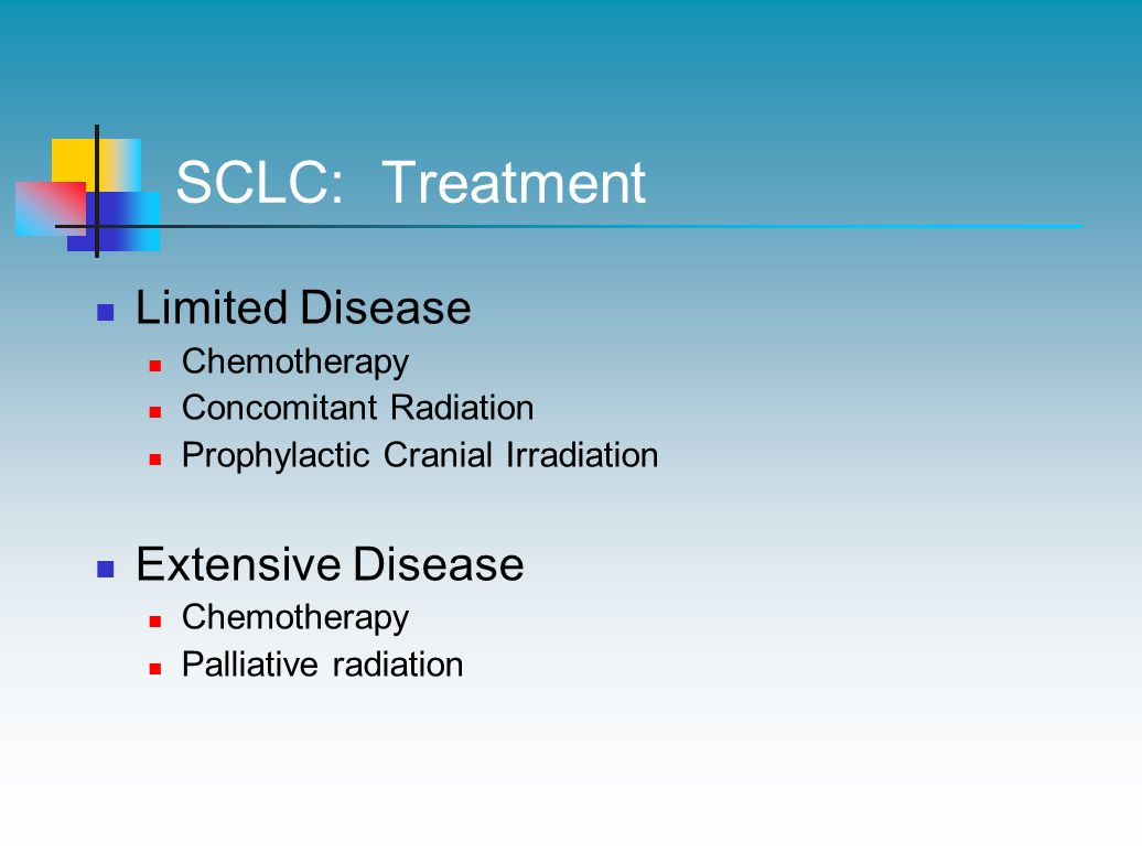 SCLC: Treatment Limited Disease Extensive Disease Chemotherapy