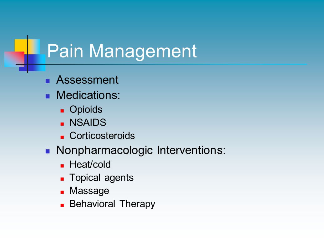 Pain Management Assessment Medications: