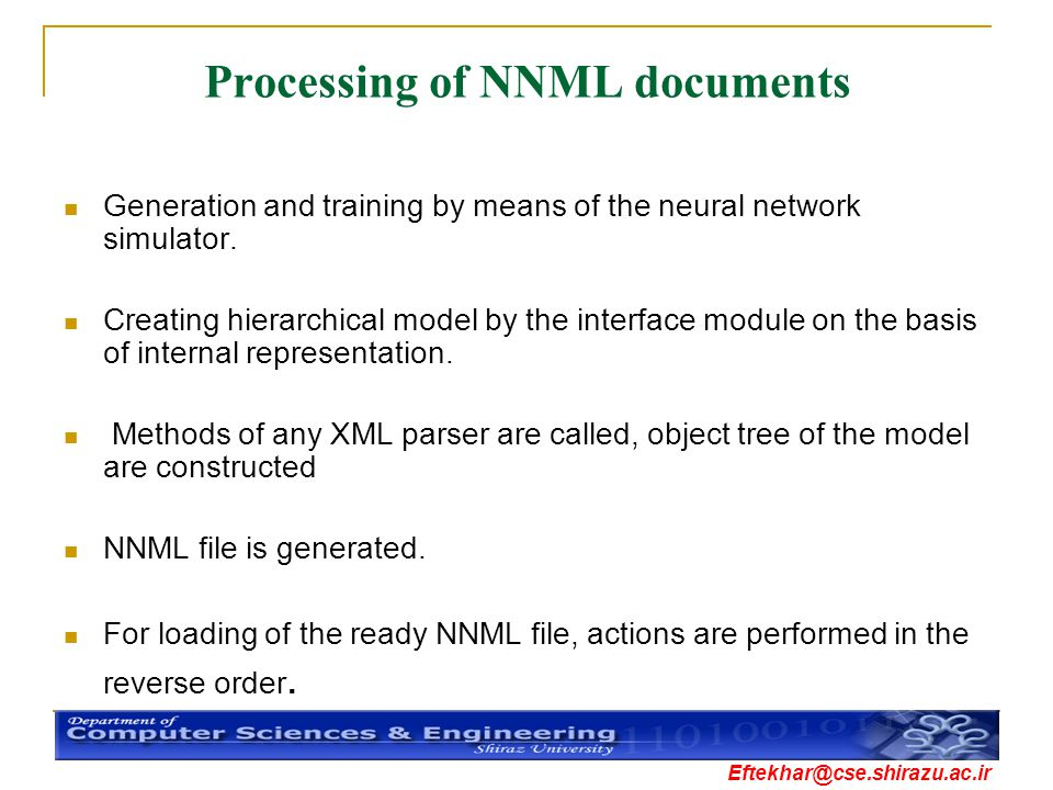 Processing of NNML documents