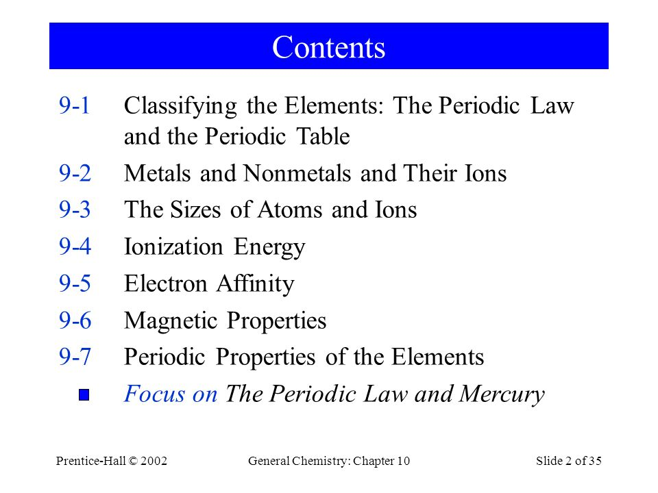 General Chemistry: Chapter 10