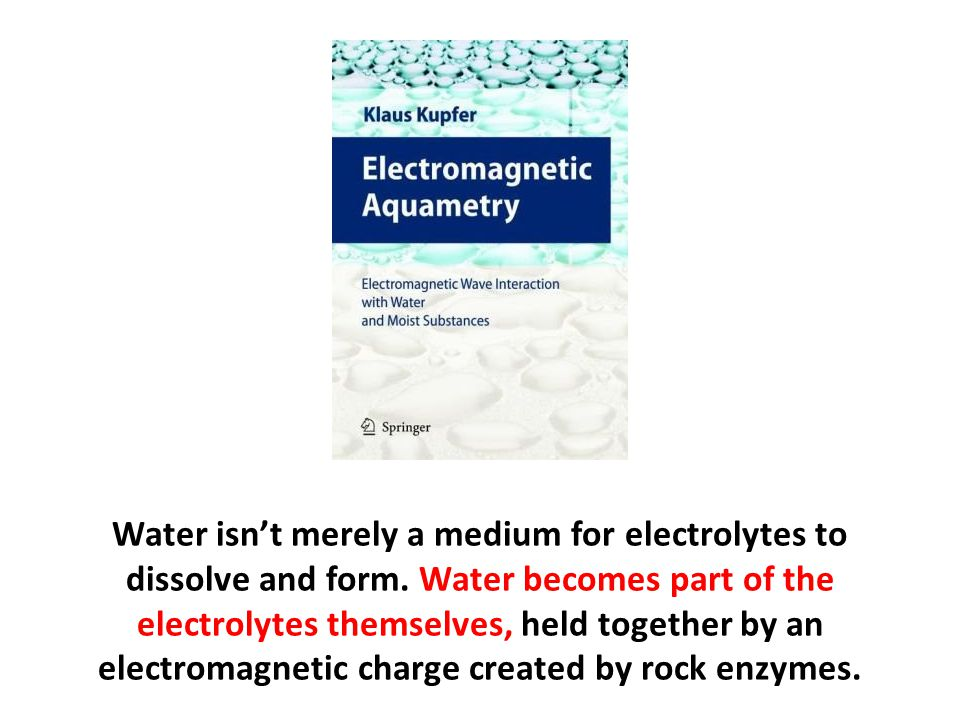 Water isn't merely a medium for electrolytes to dissolve and form