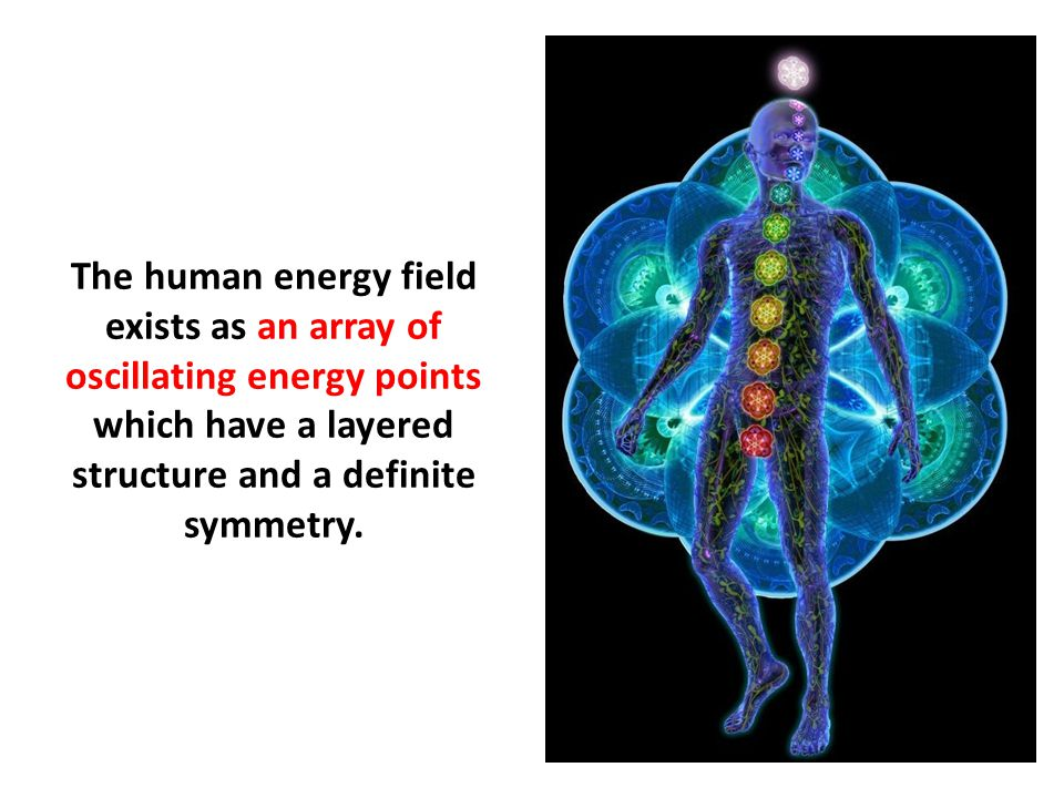 The human energy field exists as an array of oscillating energy points which have a layered structure and a definite symmetry.