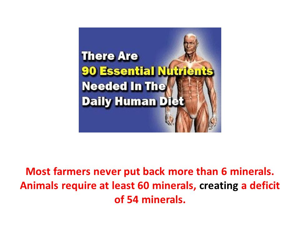 Most farmers never put back more than 6 minerals