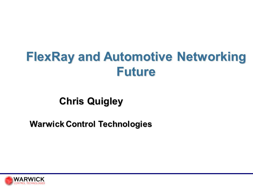 FlexRay and Automotive Networking Future