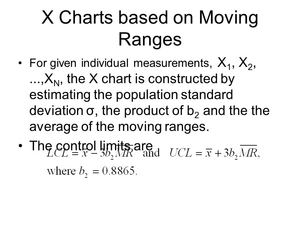 X Charts based on Moving Ranges