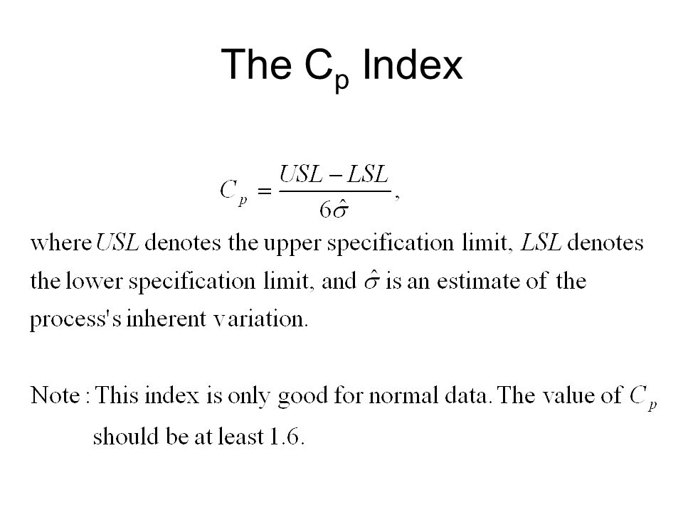 The Cp Index