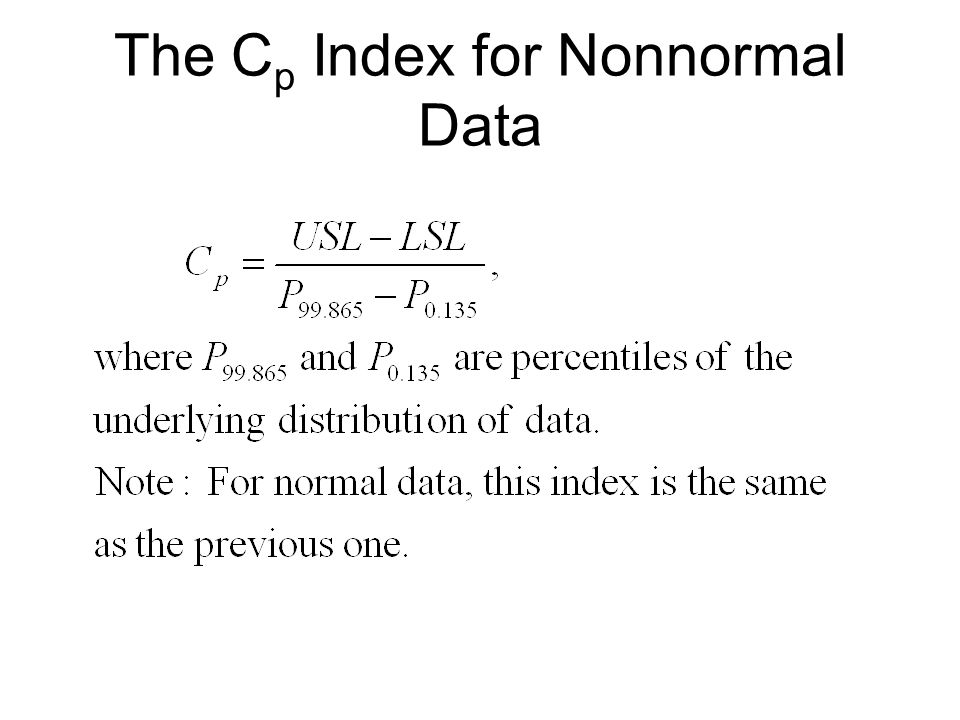 The Cp Index for Nonnormal Data