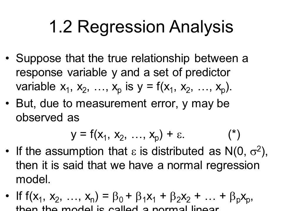1.2 Regression Analysis