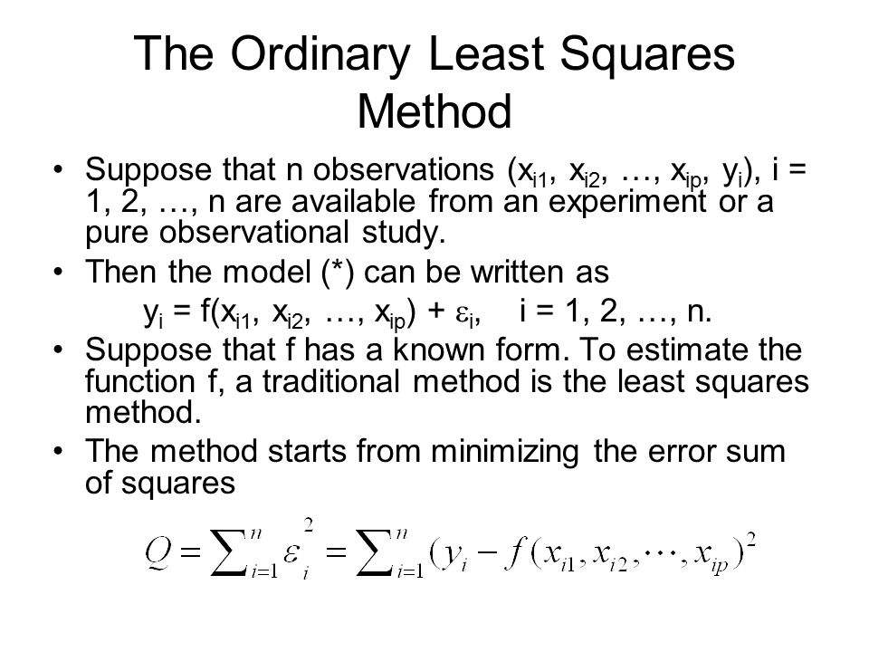 The Ordinary Least Squares Method