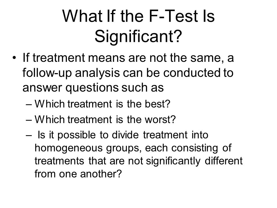 What If the F-Test Is Significant