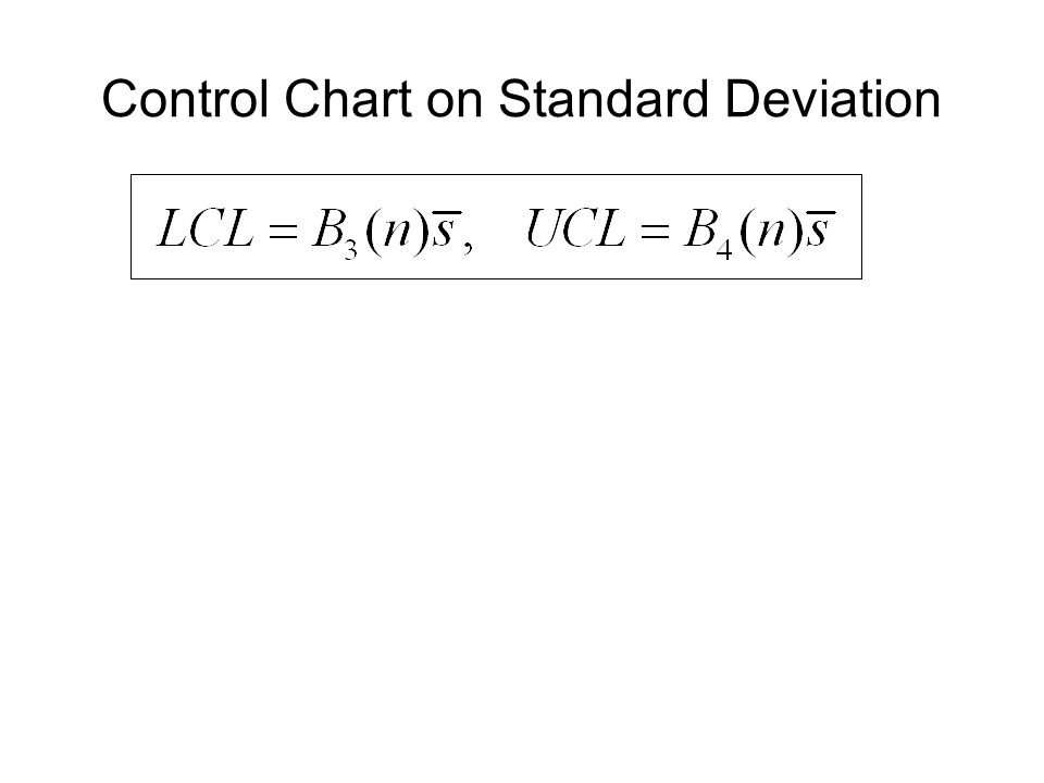 Control Chart on Standard Deviation