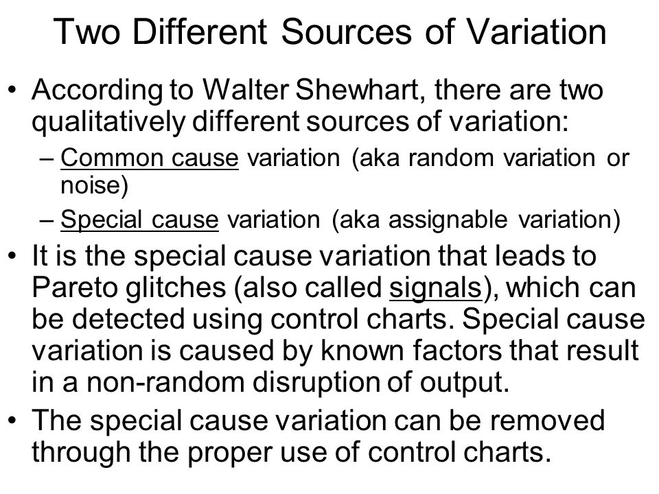 Two Different Sources of Variation