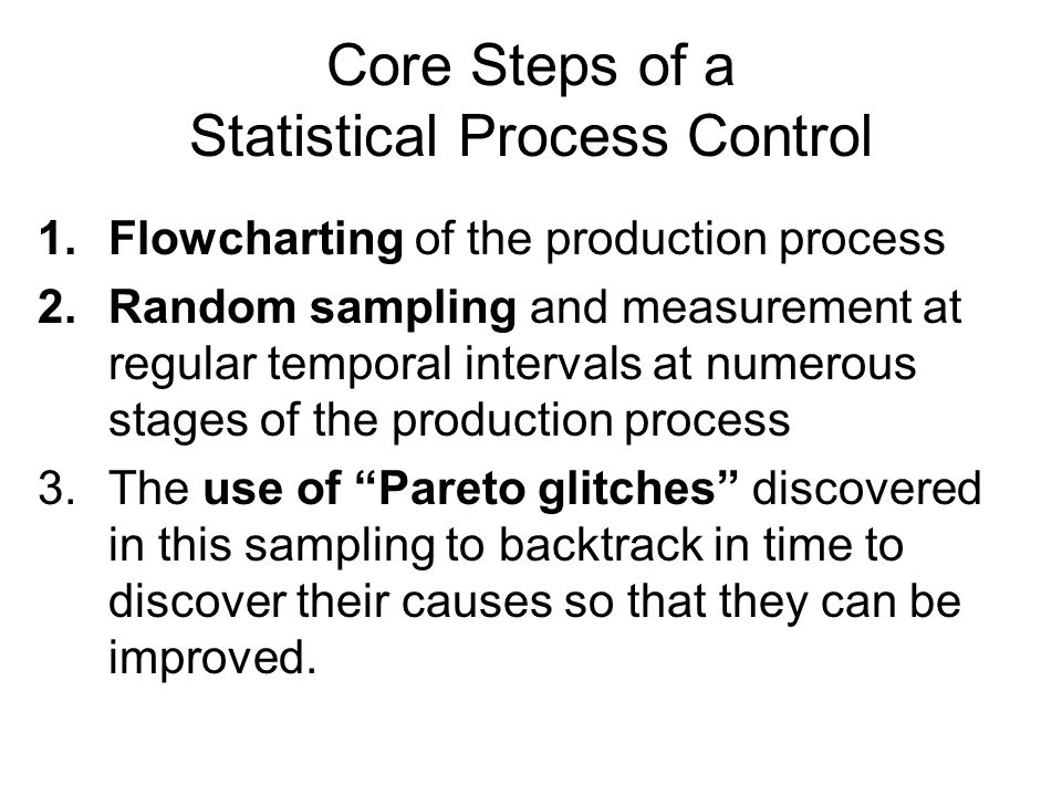 Core Steps of a Statistical Process Control