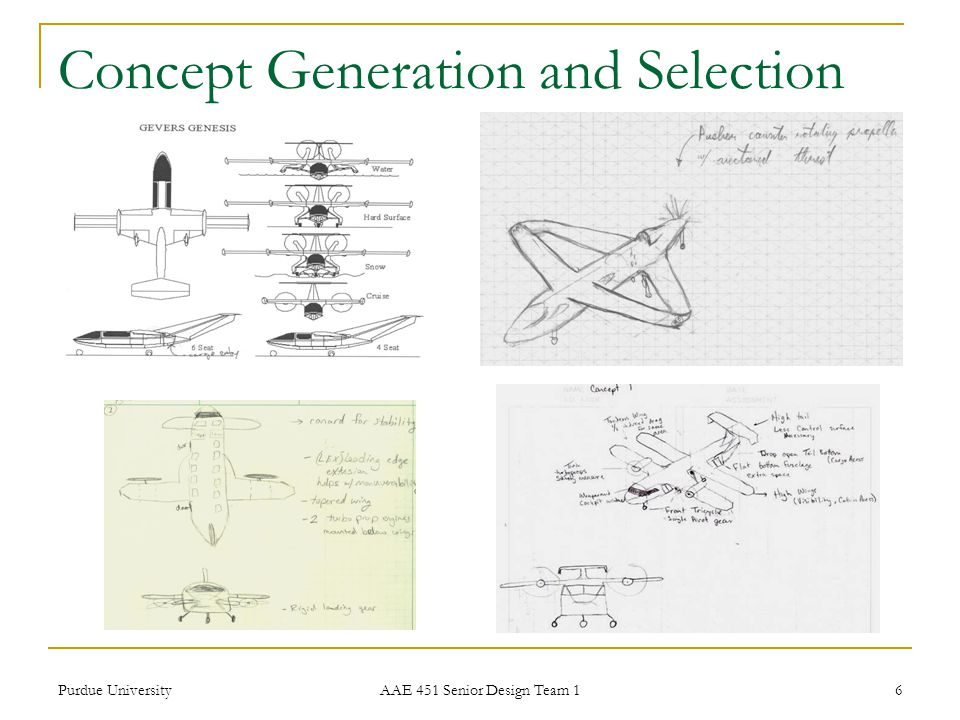 Concept Generation and Selection