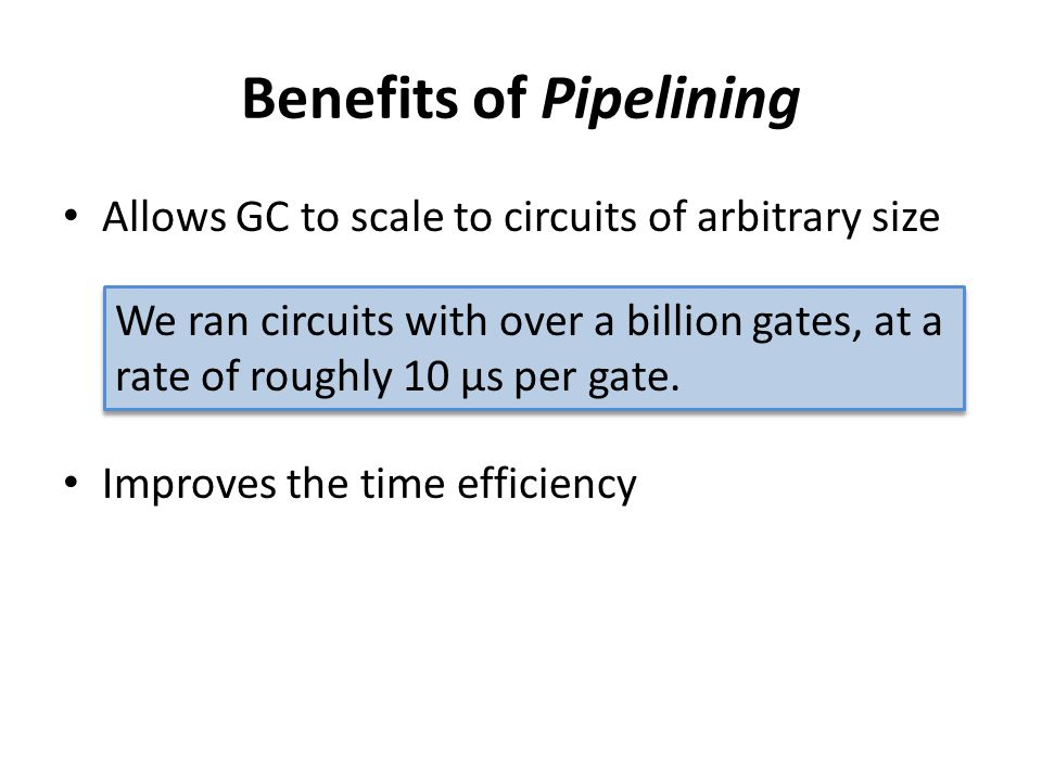 Benefits of Pipelining
