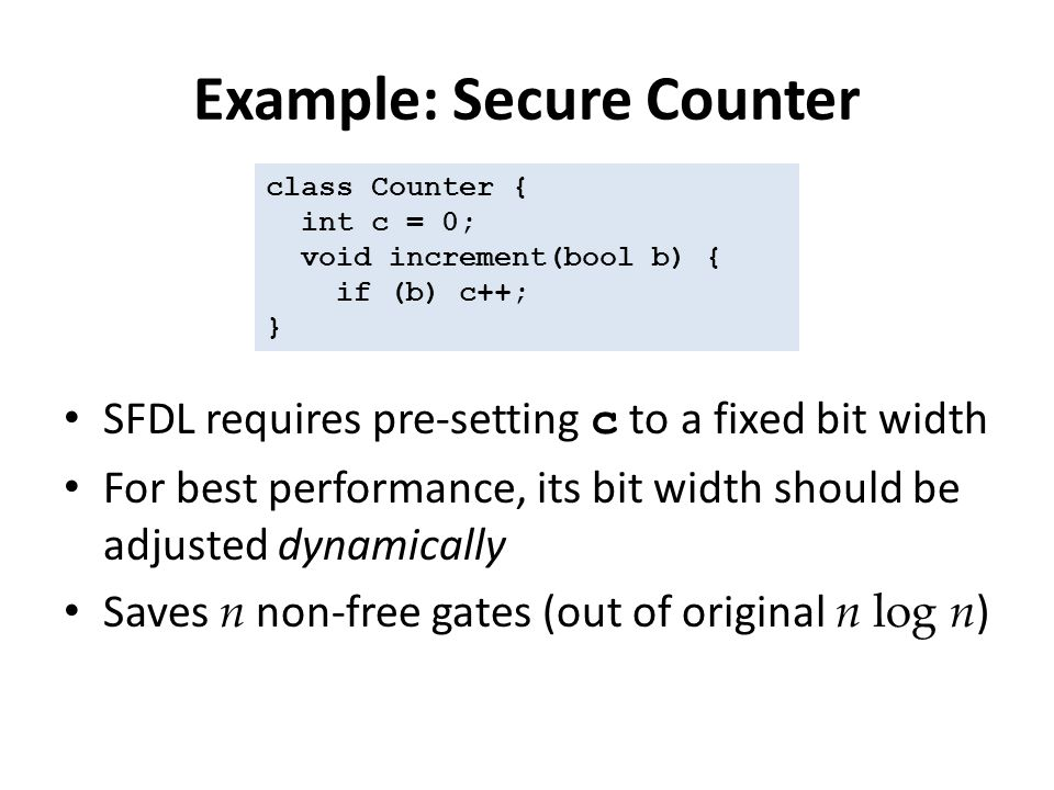 Example: Secure Counter