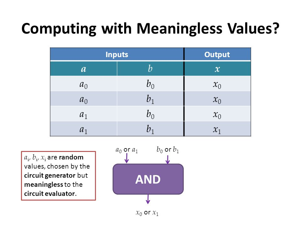 Computing with Meaningless Values