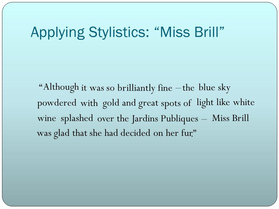 mrs brill short story