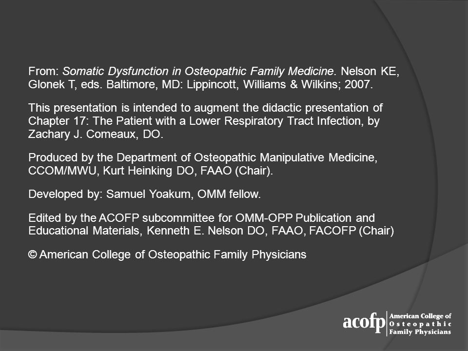 From: Somatic Dysfunction in Osteopathic Family Medicine