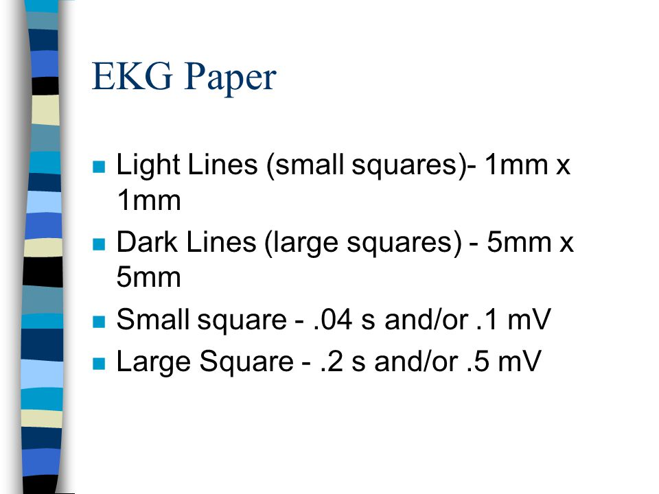 EKG Paper Light Lines (small squares)- 1mm x 1mm