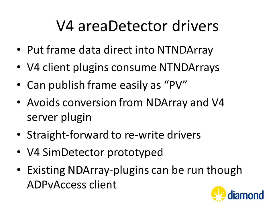 V4 areaDetector drivers