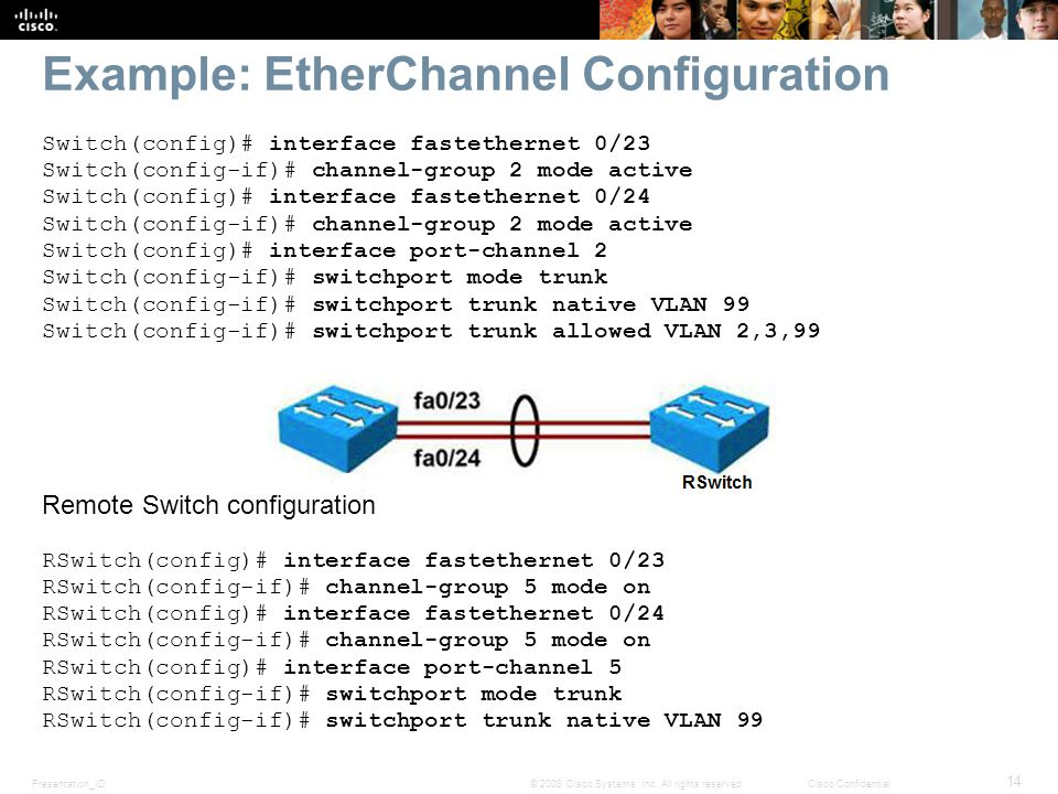 Example: EtherChannel Configuration