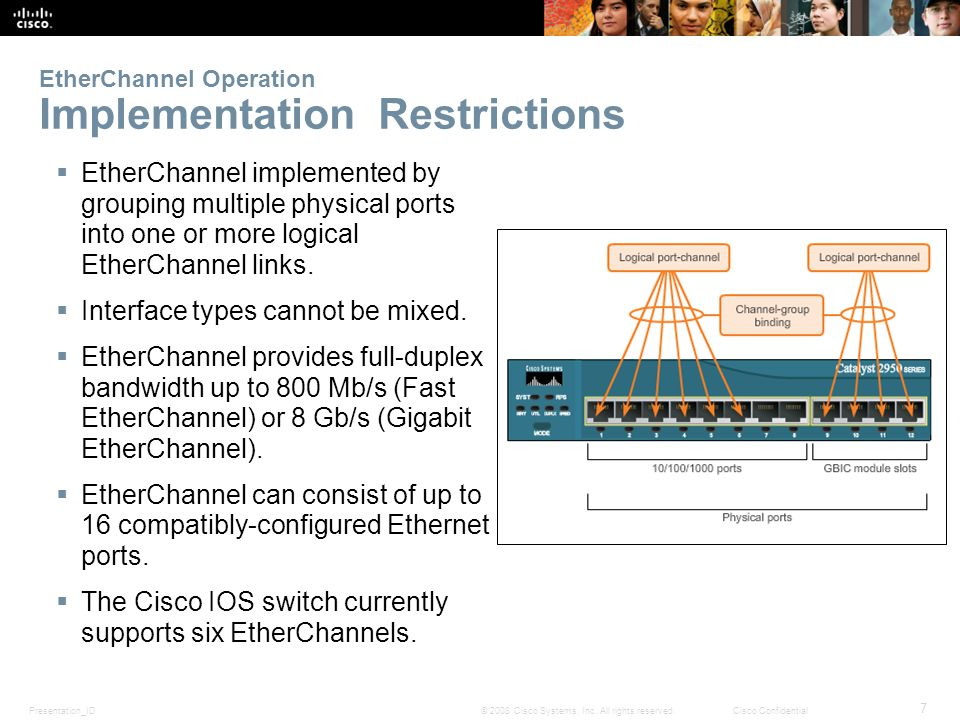 EtherChannel Operation Implementation Restrictions
