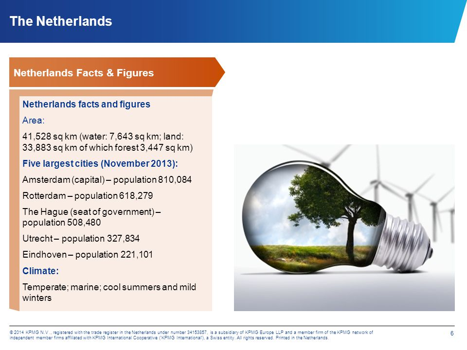 The Netherlands Netherlands Facts & Figures Natural resources: