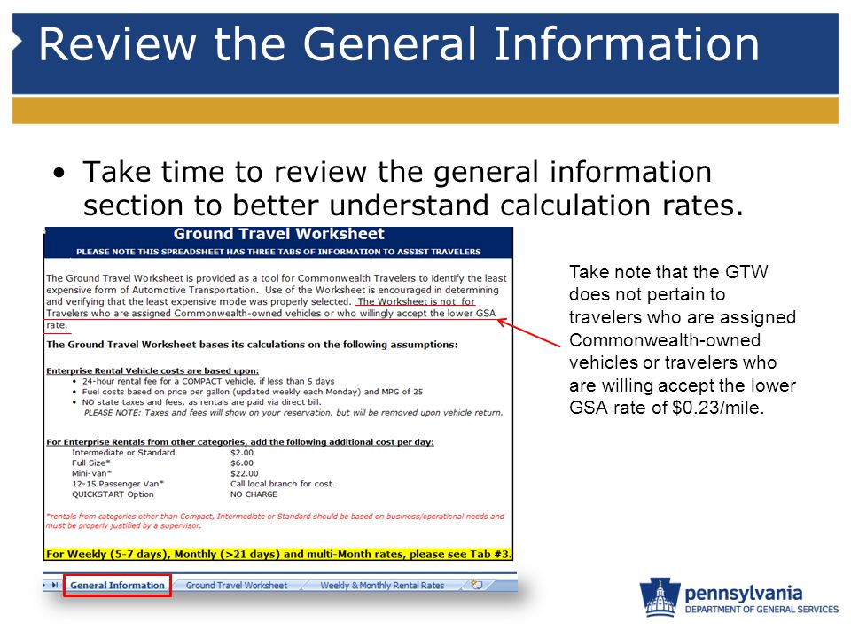 Review the General Information