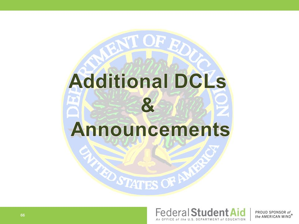 Additional DCLs & Announcements
