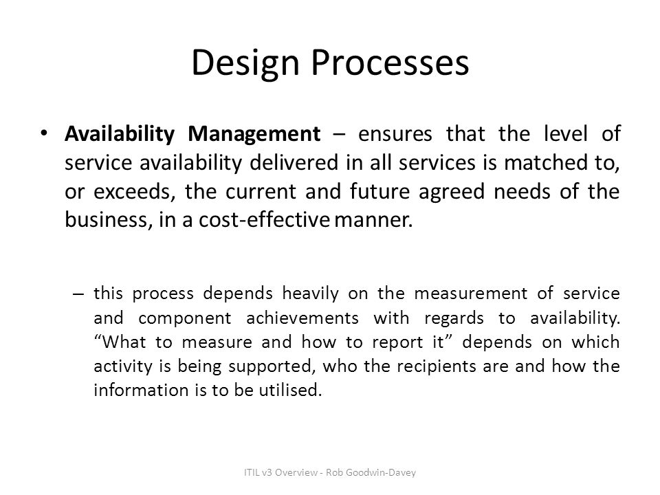 ITIL v3 Overview - Rob Goodwin-Davey