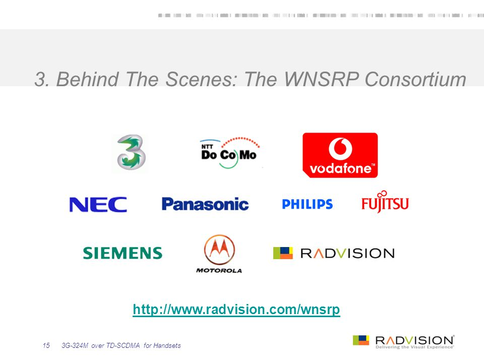3. Behind The Scenes: The WNSRP Consortium