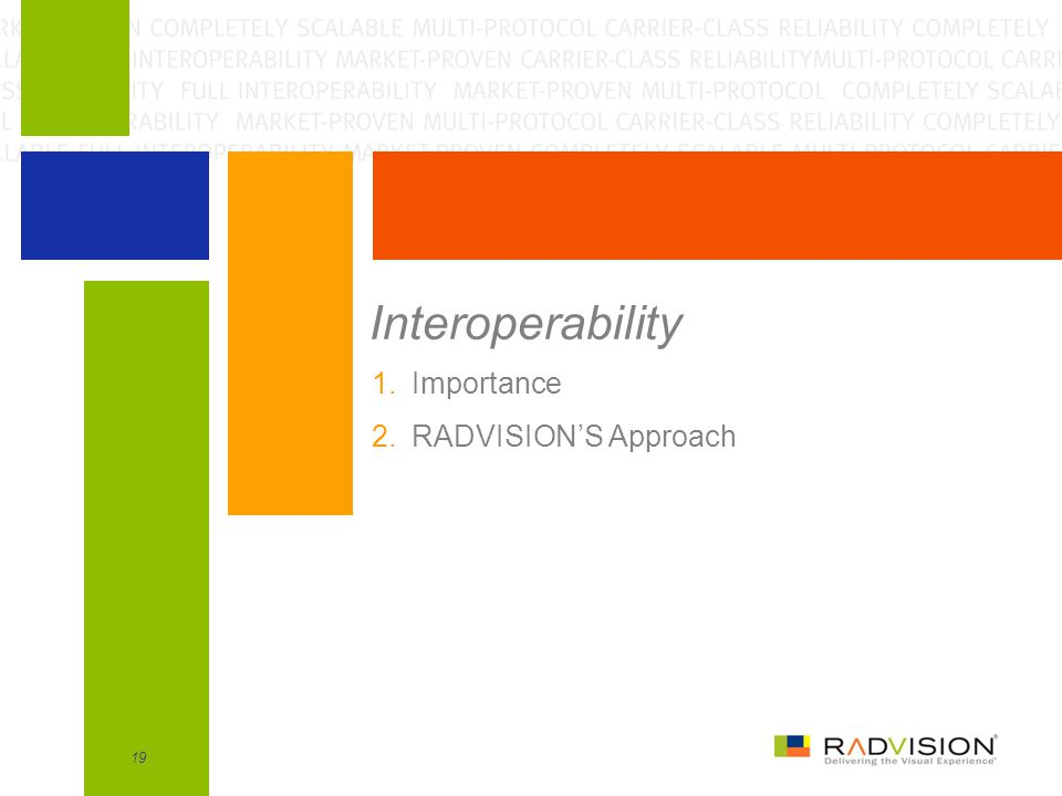 Interoperability Importance RADVISION'S Approach