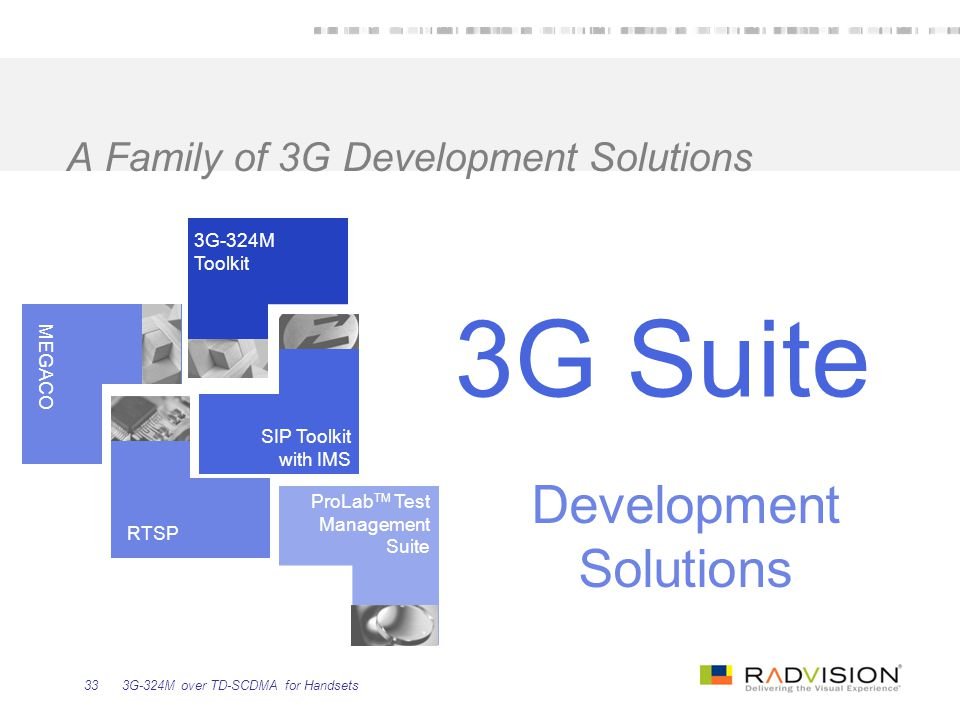 A Family of 3G Development Solutions