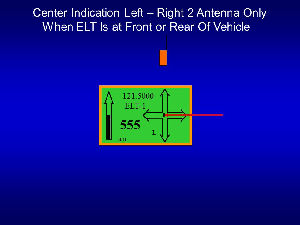555 Center Indication Left – Right 2 Antenna Only