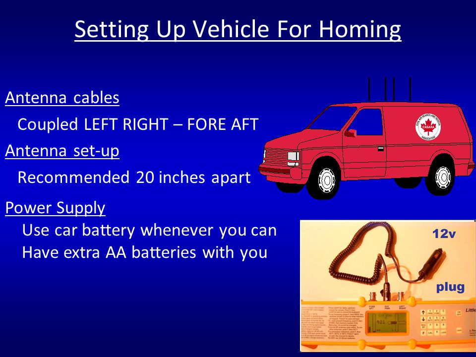 Setting Up Vehicle For Homing