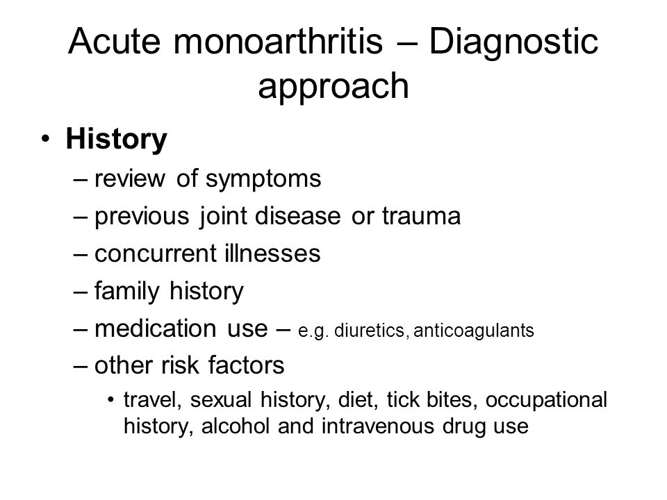 Acute monoarthritis – Diagnostic approach