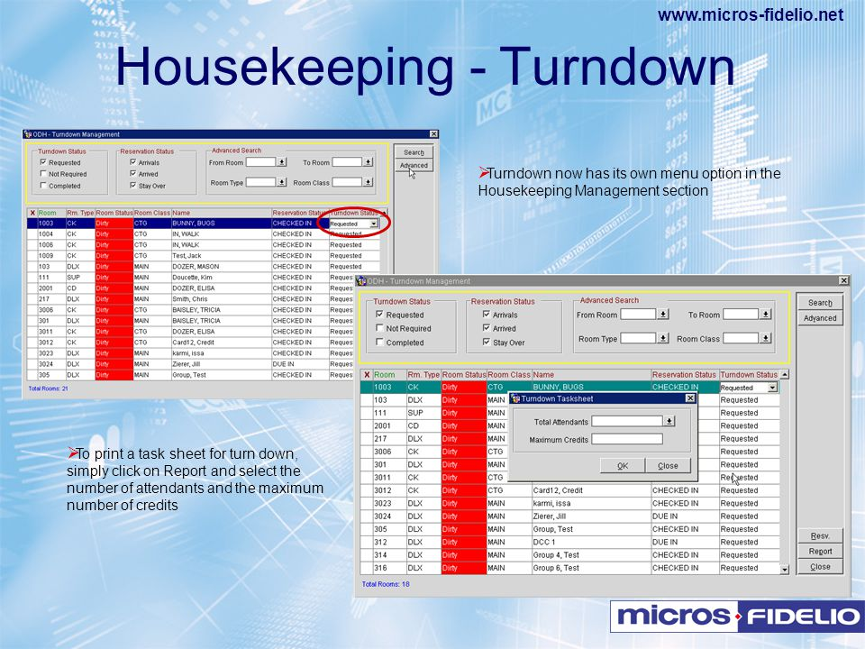 Housekeeping - Turndown