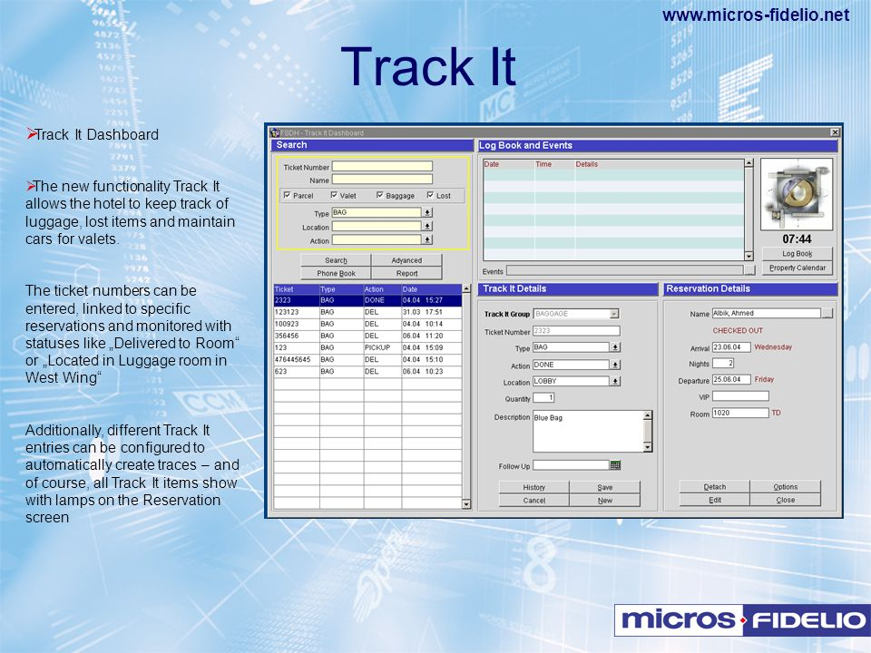Track It Track It Dashboard