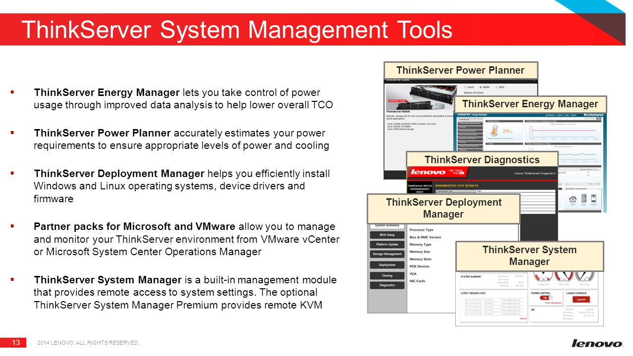 ThinkServer System Management Tools