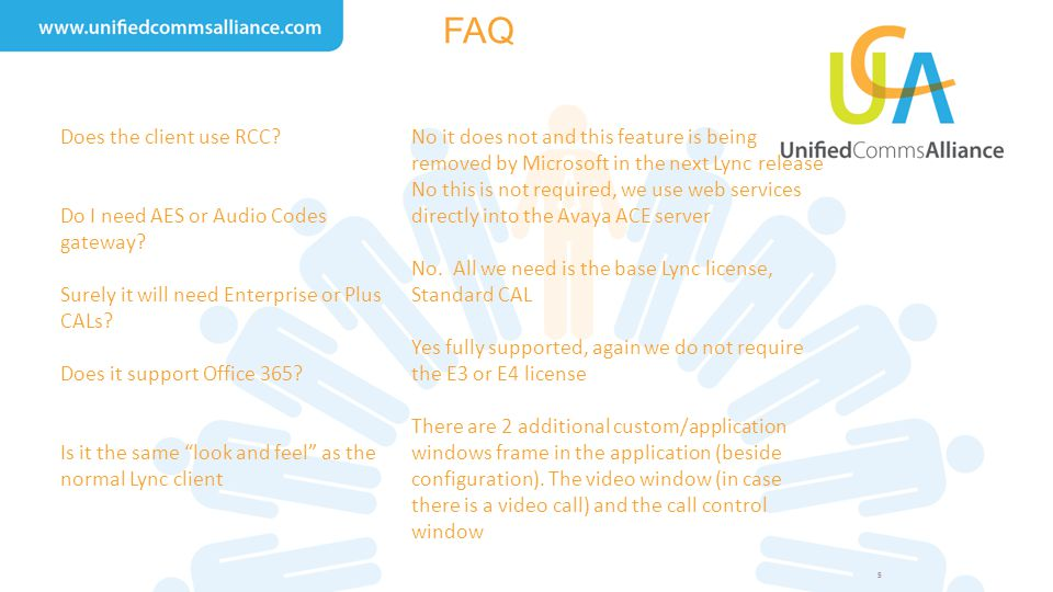 FAQ Does the client use RCC Do I need AES or Audio Codes gateway