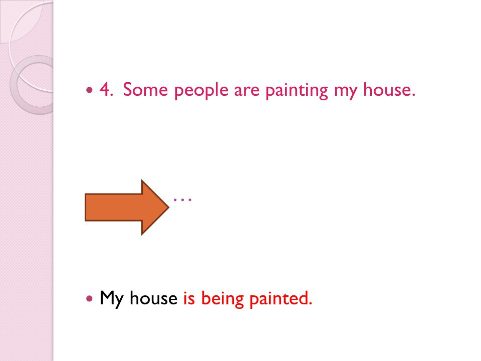 4. Some people are painting my house.