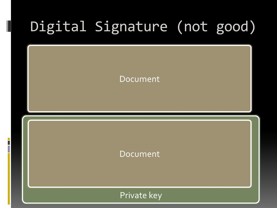 Digital Signature (not good)