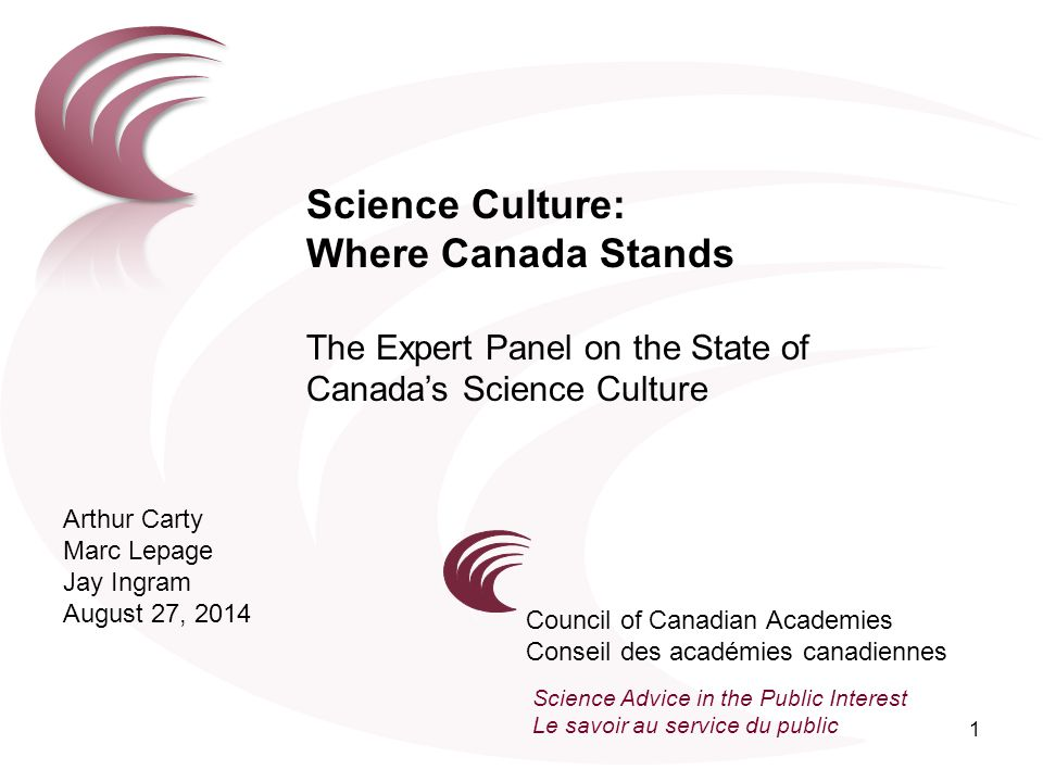 Science Culture: Where Canada Stands