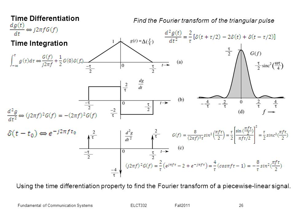 Time Differentiation Time Integration