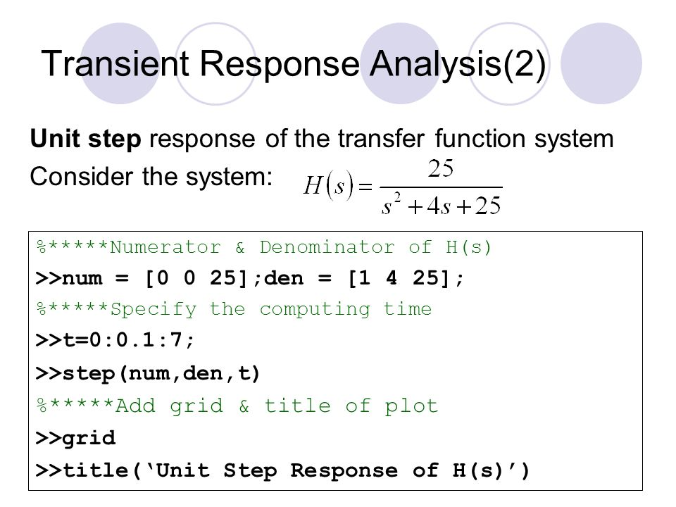 Transient Response Analysis(2)
