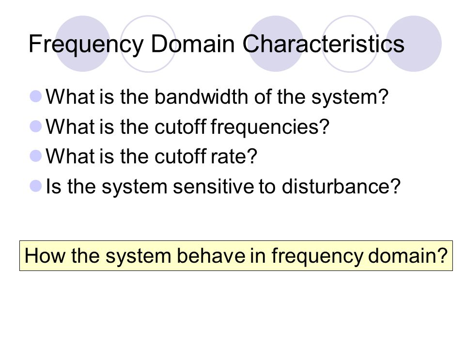 Frequency Domain Characteristics