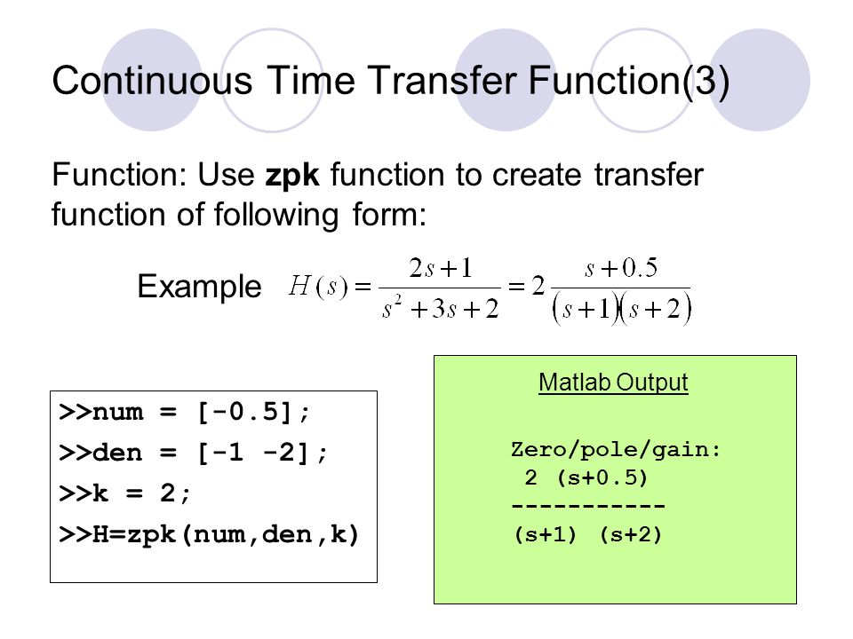 Continuous Time Transfer Function(3)