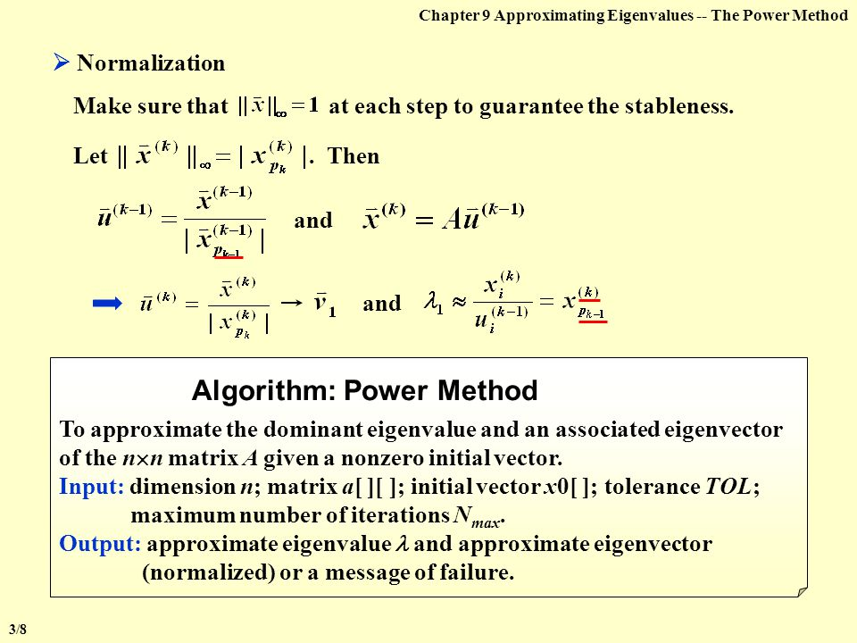 Algorithm: Power Method