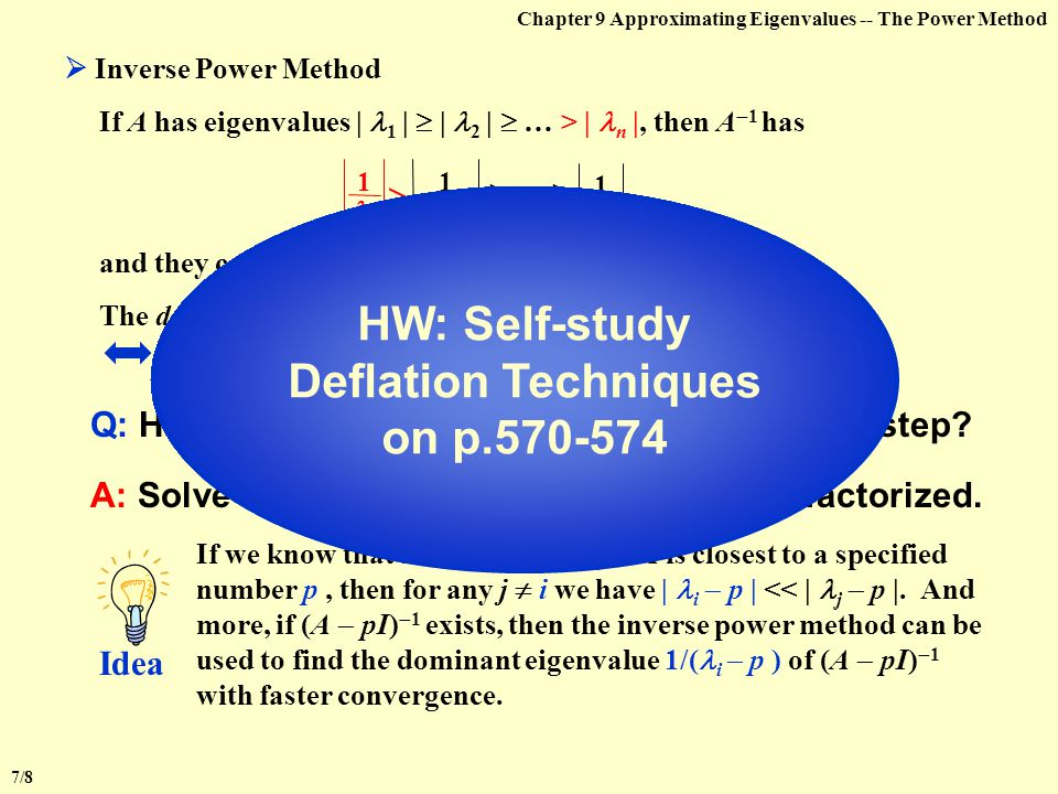 HW: Self-study Deflation Techniques on p